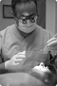 Andrew Eder treating a tooth wear patient