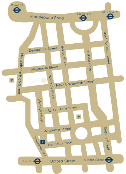London Tooth Wear Centre Map
